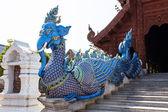 Scala di cigno fusione elefante in wat banden, tailandia chiang mai — Foto Stock