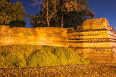 Night Of Chiangmai moat and ancient wall with Ghost ,Thailand — Stock Photo