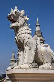 White Lion Statue in Wat Banden, Chiangmai Thailand — Stock Photo