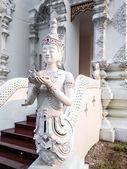 Thai Art, Angel Fusion Naka statue on staircase — Stock Photo