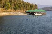 Houseboat in  Mae Ngad dam, Chiangmai Thailand — Stock Photo