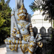 Singha and Giant Statue with Pagoda in Thailand — Stock Photo #47690087