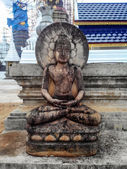 Old Buddha Statue In Thai Temple — Stockfoto