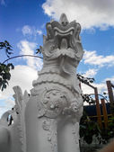 White lion in Wat Banden, Chiangmai Thailand — Stock Photo