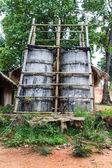 水泥水塔,泰国农村 — 图库照片