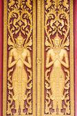 Design beautiful Door in Thai temple — Foto de Stock