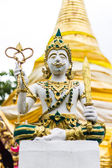 Thai angels statue in Temple — Stock Photo