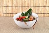Thai tom yam soup with shrimp — Stockfoto