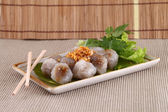Steamed tapioca dumpling with pork — Stock Photo