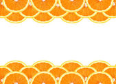 Slice of orange isolated on white background — Stock Photo
