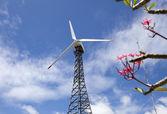 Eco power, wind turbines  — Stock Photo