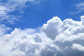 White clouds in blue sky. — Stock Photo