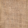Piece of frayed burlap background — Stock Photo