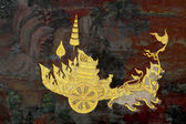 Traditional Thai art Lai Sing of Wat Phra Kaeo — Foto de Stock