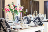Luxurious dining table  — Stock Photo