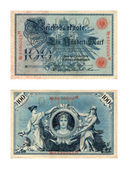 Reichsbanknote, one hundred marks — Stock Photo