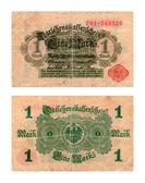 Reichsbanknote, one mark, German Empire, 1919 — Stock Photo