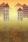 Virtual city — Стоковое фото