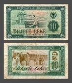 Ten leke, State Bank to Albania, 1976 — Stock Photo