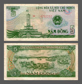 Five dongs, Socialist Republic Vietnam, 1985 — Stock Photo