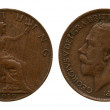 Постер, плакат: Farthing Great Britain Georg Fifth 1919