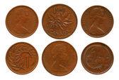 Cents, British Dominion, Elizaveta Second — Stock Photo