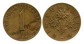 One shilling, Republic Austria, 1968 — Stock Photo