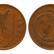 Stock Photo: One penny, Ireland, 1971