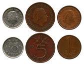 One, five, ten cent, Netherlands, queen Juliana — Stock Photo