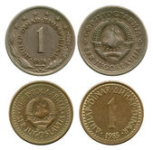 One dinar, SFR Yugoslavia, 1974, 1983 — Stock Photo