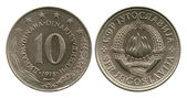 Ten dinar, SFR Yugoslavia, 1978 — Stock Photo