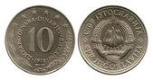 Ten dinar, SFR Yugoslavia, 1978 — ストック写真