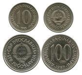 Ten and one hundred dinar, SFR Yugoslavia, 1983-1987 — Stock Photo
