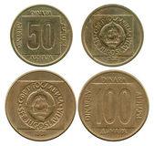 Fifty and one hundred dinar, SFR Yugoslavia, 1988-1989 — Stock Photo