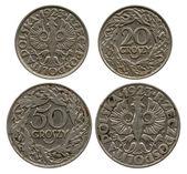 Twenty and fifty groshy, Poland, 1923 — Stock Photo