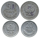 Twenty and fifty groshy, Polish Public Republic, 1973-1976 — Stock Photo