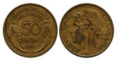 Fifty centimes, Republic France, 1931 — Stock Photo