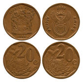 Twenty cents, South Africa, 1996, 2003 — Stok fotoğraf