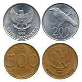 Two hundred and five hundred rupian, Indonesia, 2002-2003 — Stock Photo