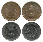 One rupee, India, 1990-1996 — Stock Photo