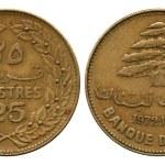 Twenty five piastres, Lebanon, 1972 — Stock Photo #45809937