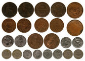 Different coins of the period before first world war — Stock Photo