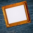 Picture frame on brick wall background — Stockfoto