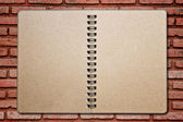 Brickwall notebook — Stok fotoğraf