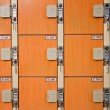 Stock Photo: Lockers in locker room.