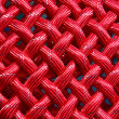 Texture of red nylon rope — Stock Photo