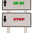Stock Photo: Sign of guide post isolated