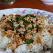 Thai food, kapao moo — Stock Photo