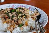 Thai food, kapao moo — Stock Photo