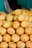 Closeup of Yellow Mango on market  — Stock Photo